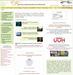 Page écran du site portail des AAR